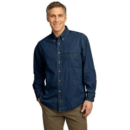 - Port & Company - Long Sleeve Value Denim Shirt