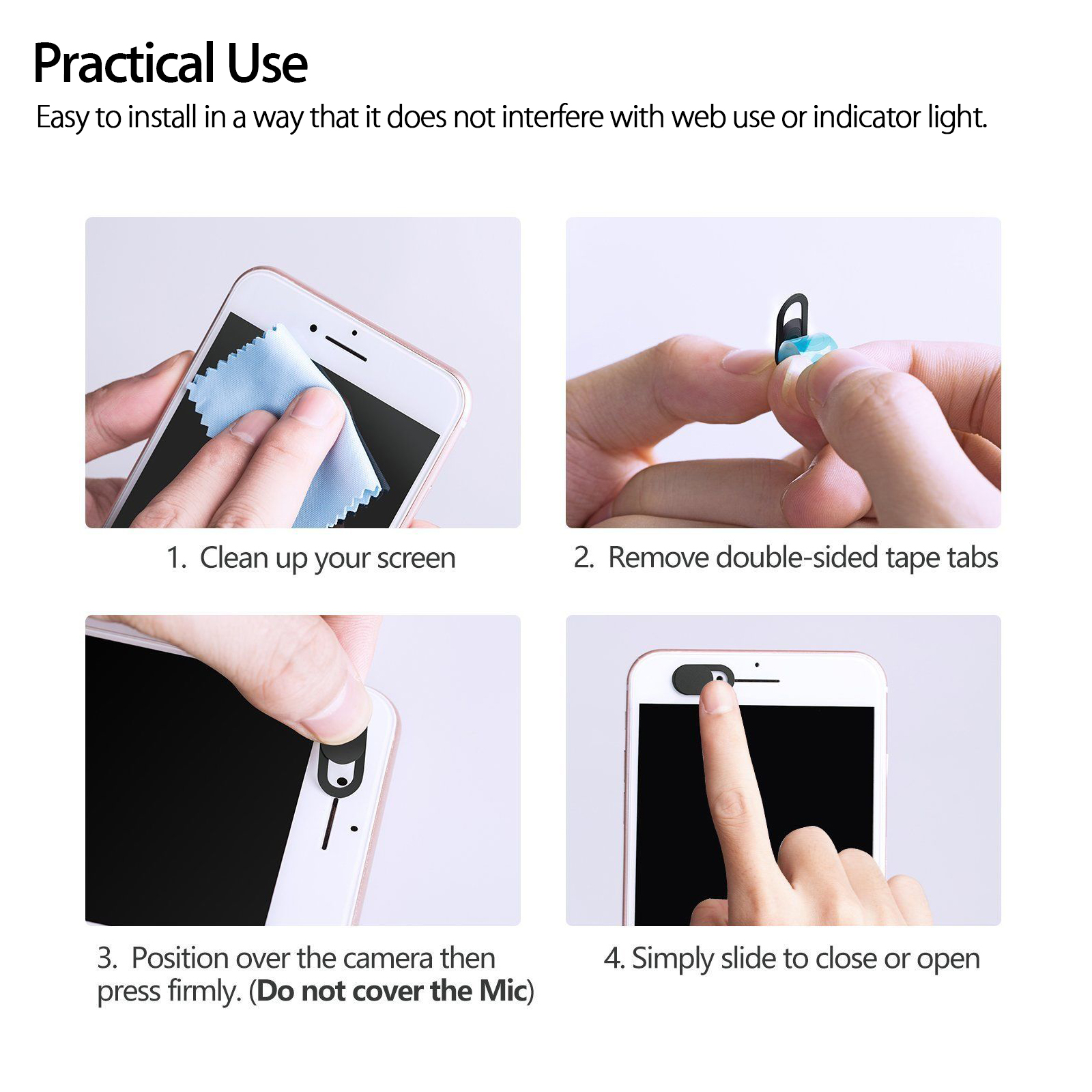 Echo Show Strong Adhesive iPhone Laptop Camera Cover ANYQOO 6 Pack Webcam Cover Slide Ultra Thin for Laptop Cute Cat Camera Cover Slide Protecting Privacy and Security Android Phone etc iPad