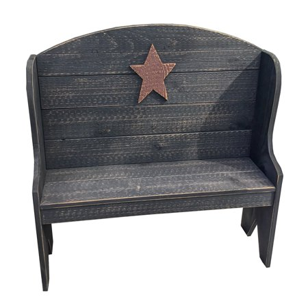 Furniture Barn USA™ Primitive Rustic Country Style Deacon's Bench ()