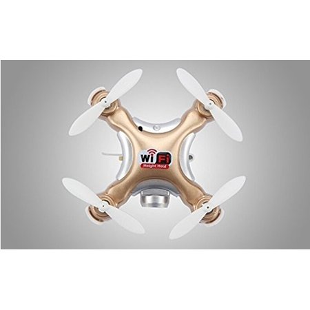 Qiyun 1Pcs Mini Pocket Portabel Usb Charge Rc Wifi Drone Quadcopter Cheerson Cx 10Wd 6 Axis Remote Control Nano Fpv Flight Helicopter Hobbies Rc Drone Kids Birthday New Year Toy Gift Golden