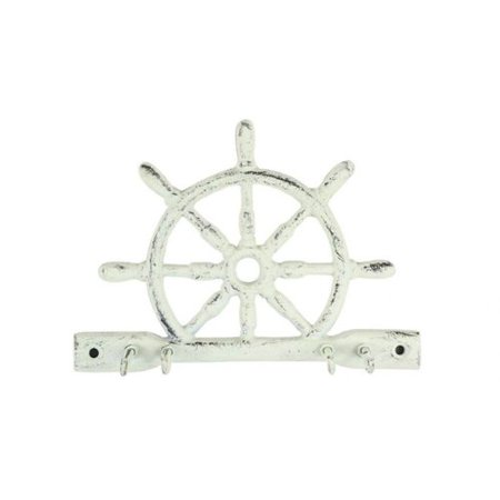 Handcrafted Nautical Decor Cast Iron Ship Wheel Wall Hook - Walmart.com