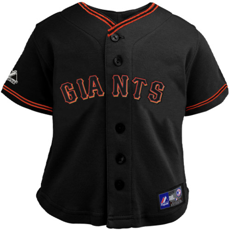 uk availability 4de72 b3288 Majestic San Francisco Giants Toddler Replica Jersey - Black ...
