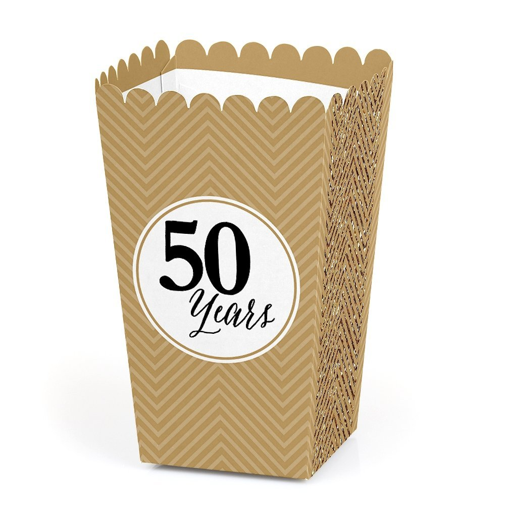 We Still Do - 50th Wedding Anniversary Party Favor Popcorn Treat Boxes - Set of 12