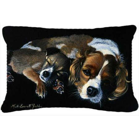 Carolines Treasures FMF0022PW1216 Cozy Pals with Cavalier Spaniel Fabric Decorative Pillow - image 1 de 1
