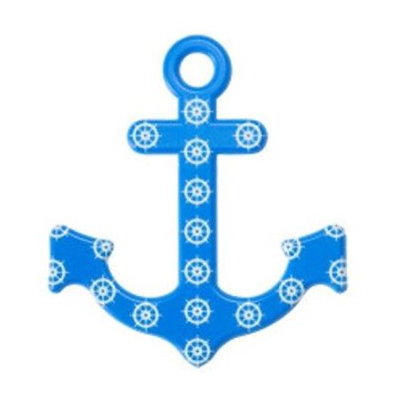 Anchor Cake Topper (Blue and White Anchor Layon Cake Topper - 1 Count - 3.8
