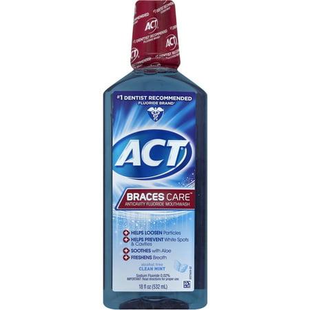 Act Braces Care Anticavity Fluoride Mouthwash  18 Fl Oz
