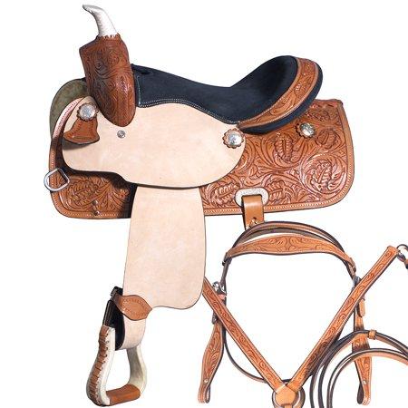 """13"""" Kids Youth Child Pony Horse Saddle Leather pleasure Barrel Western"""