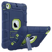 iPad mini 3/ 2 /1 Case,  ULAK Three Layer Hybrid Heavy Duty Shockproof Protective Case with Kickstand for Apple iPad Mini,iPad Mini 2,iPad Mini 3