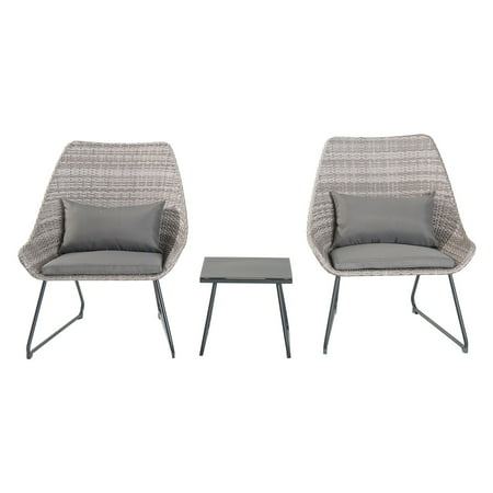 Wicker Accents - Hanover 3-Piece Outdoor Wicker Chat Set