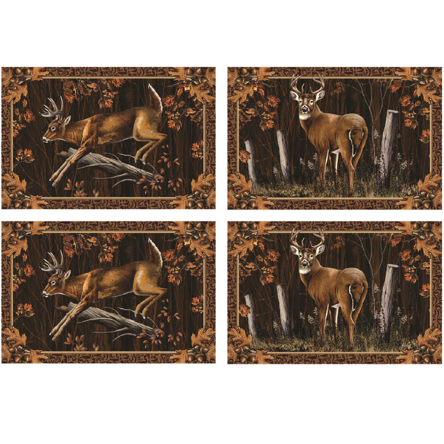 Rivers Edge 4 Piece Deer Placemat Set by River's Edge Products