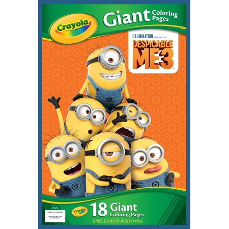Crayola Despicable Me 18 Giant Coloring Pages (Giant Art Jar)