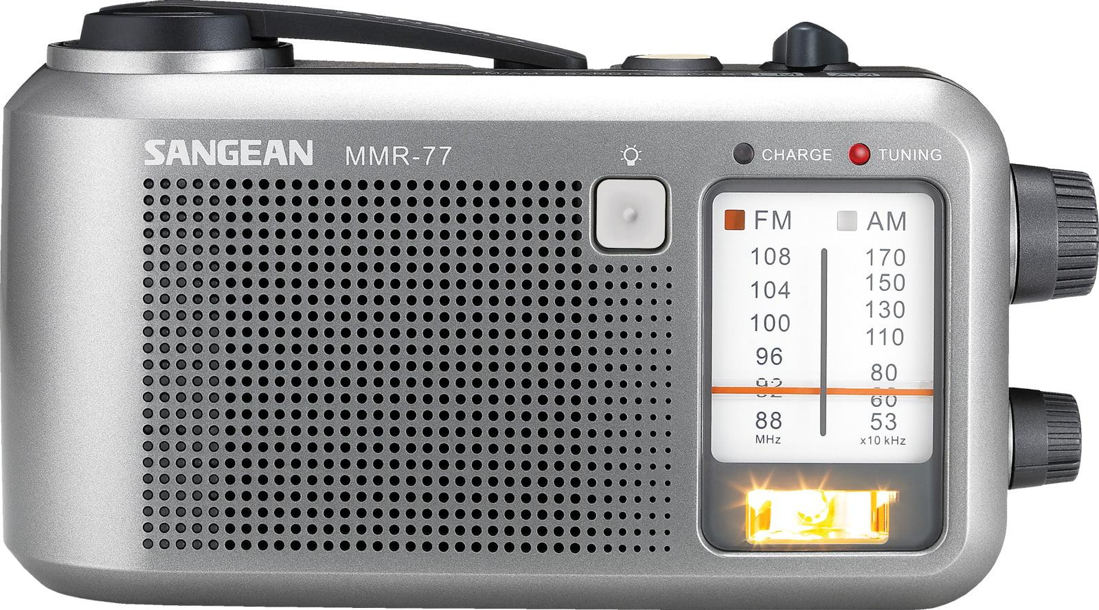 Sangean Compact Emergency Water-resistant Hand Crank AM FM Radio with Built-in Speaker by Sangean