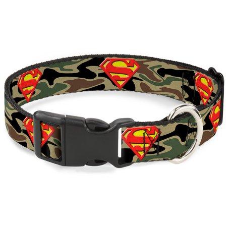 Superman DC Comics Superhero Camouflage Logo Clip Fun Animal Pet Dog Cat Collar - Superhero Dog Collars