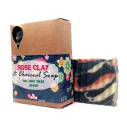 Nature Skin Shop Frankincense with Myrrh Rose Clay Charcoal Soap