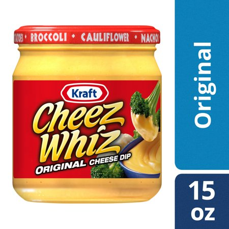 (2 Pack) Kraft Cheez Whiz Original Plain Cheese Dip, 15 oz Jar - Dip For Crackers