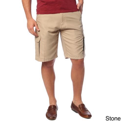 Burnside Men's Microfiber Casual Shorts Stone  32