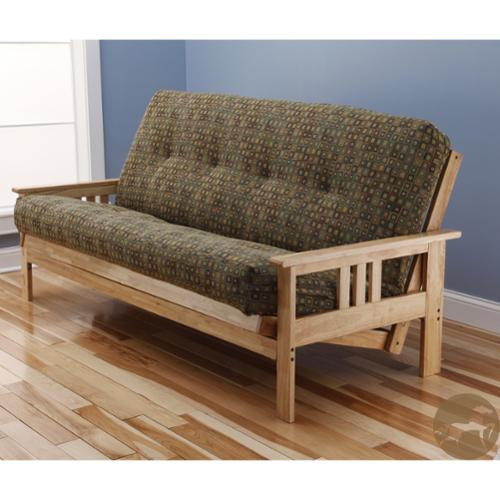 Christopher Knight Home Multi-flex Natural Wood Futon Frame with Innerspring Mattress by Overstock