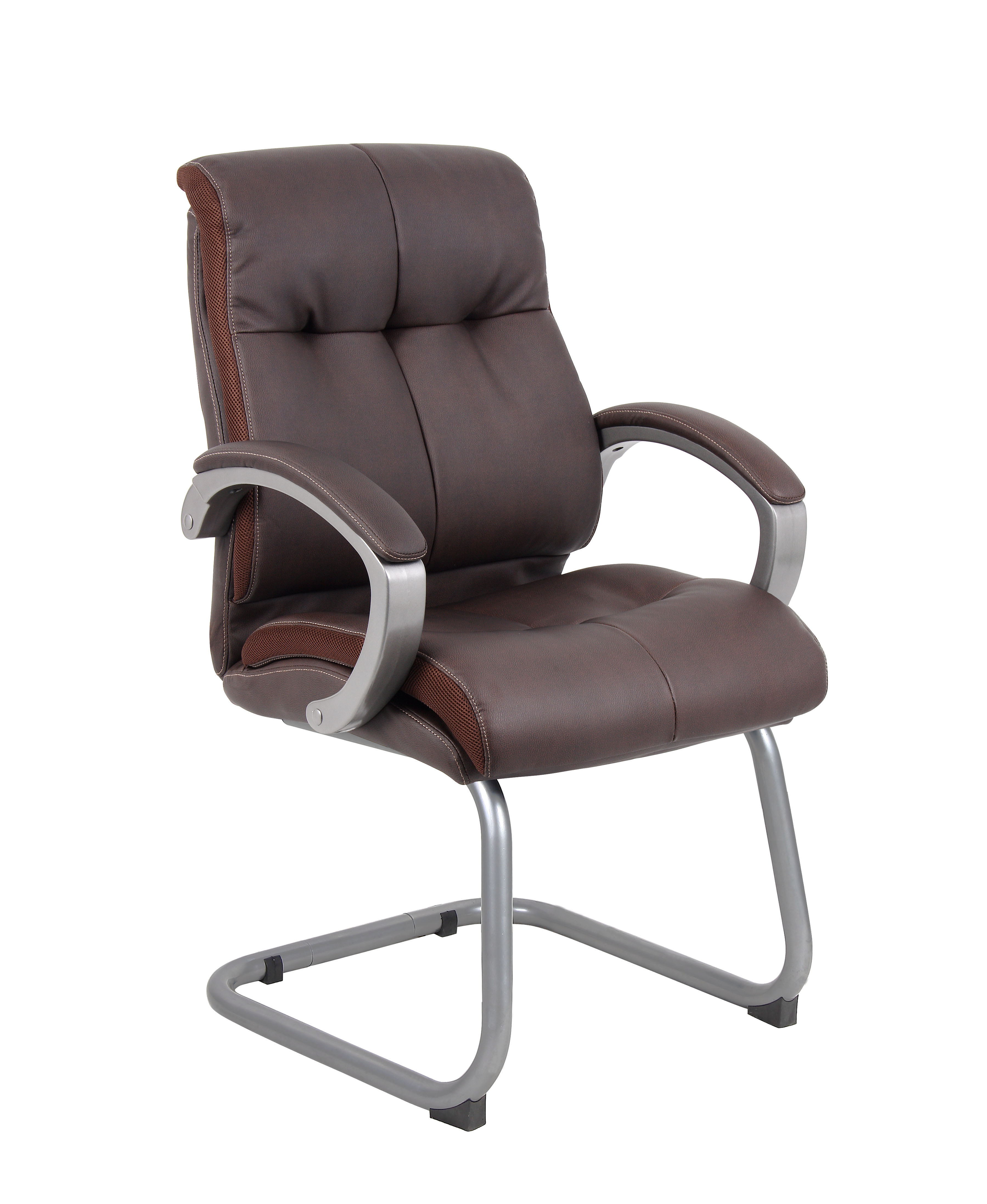 Boss Office Products Bomber Brown Double Plush Executive
