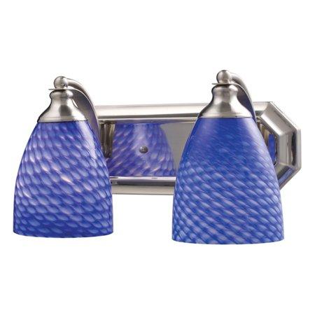 Elk Lighting Bath and Spa 570-2 Bathroom Vanity Light with Sapphire Glass