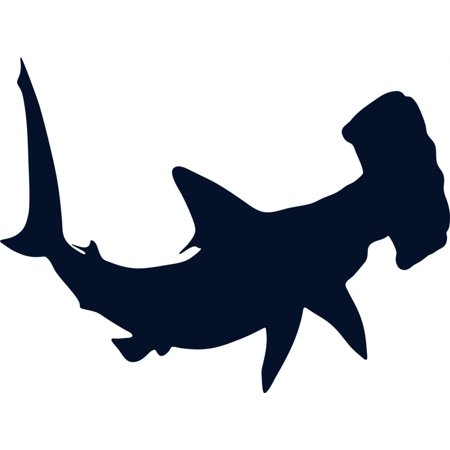 Do It Yourself Wall Decal Sticker Hammer Head Shark Fish Removable Home Decor Stick On Print 10x20