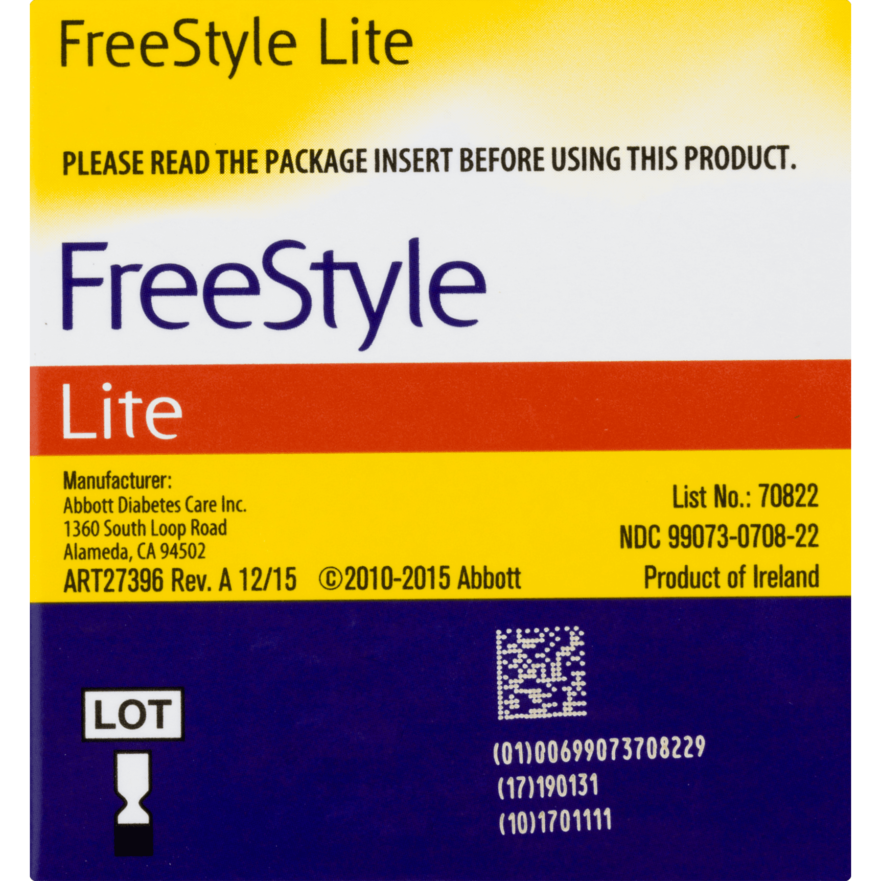 Abbott Freedom Lite freestyle lite blood glucose test strips, 50 ct - walmart