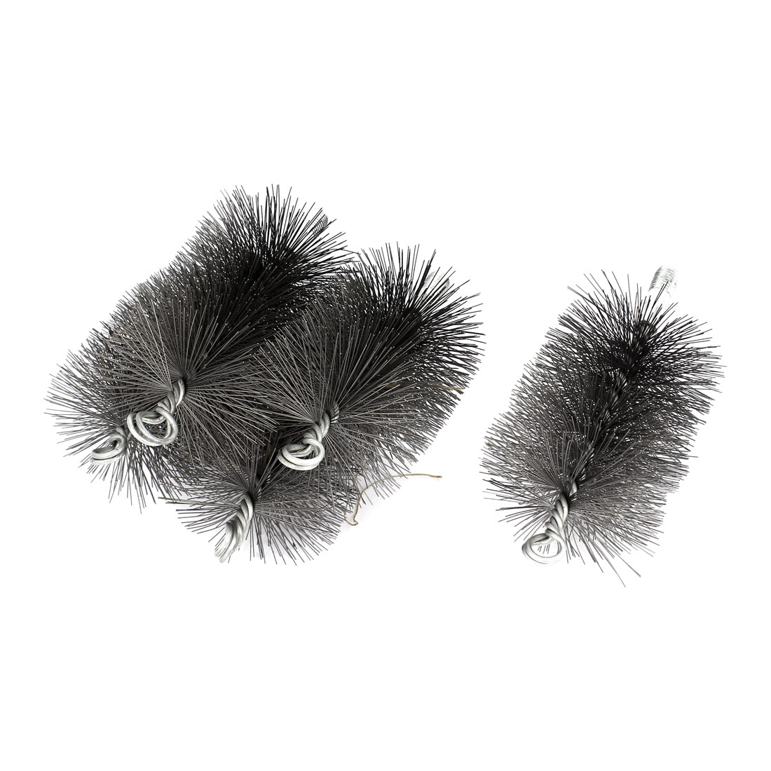 80mm Diameter Steel Wire Pipe Tube Sweep Cleaning Chimney Brush 5pcs