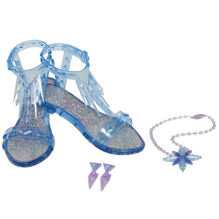 Disney Frozen 2 Elsa the Snow Queen Accessory Set, Includes Shoes, Earrings & Necklace - Perfect for Costume Dress-Up or Pretend Play