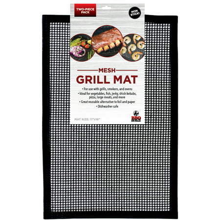 c899a71fd5a229 Grill Mat BBQ Tool Pack of 2 - Mesh Grill Mat That Allows Smoke to Pass  Through - Non-Stick - Perfect For Grills, Smokers and Ovens - Walmart.com
