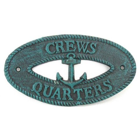 Handcrafted Nautical Decor Rustic Crews Quarters Sign Wall D (Weathered Nautical Sign)