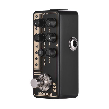 Micro Pedals Mooer 012 US GOLD 100 Micro Digital Preamp Preamplifier Dual Channels 3-Band EQ