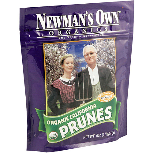 Newman's Own Organics The Second Generation Organic Dried Prunes, 6 oz, 12pk (Pack of 12)