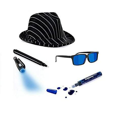 Tigerdoe Detective Costume - Spy Gear for Kids - Dress up - Spy Costume Accessories (4 (Children's Spy Costume)