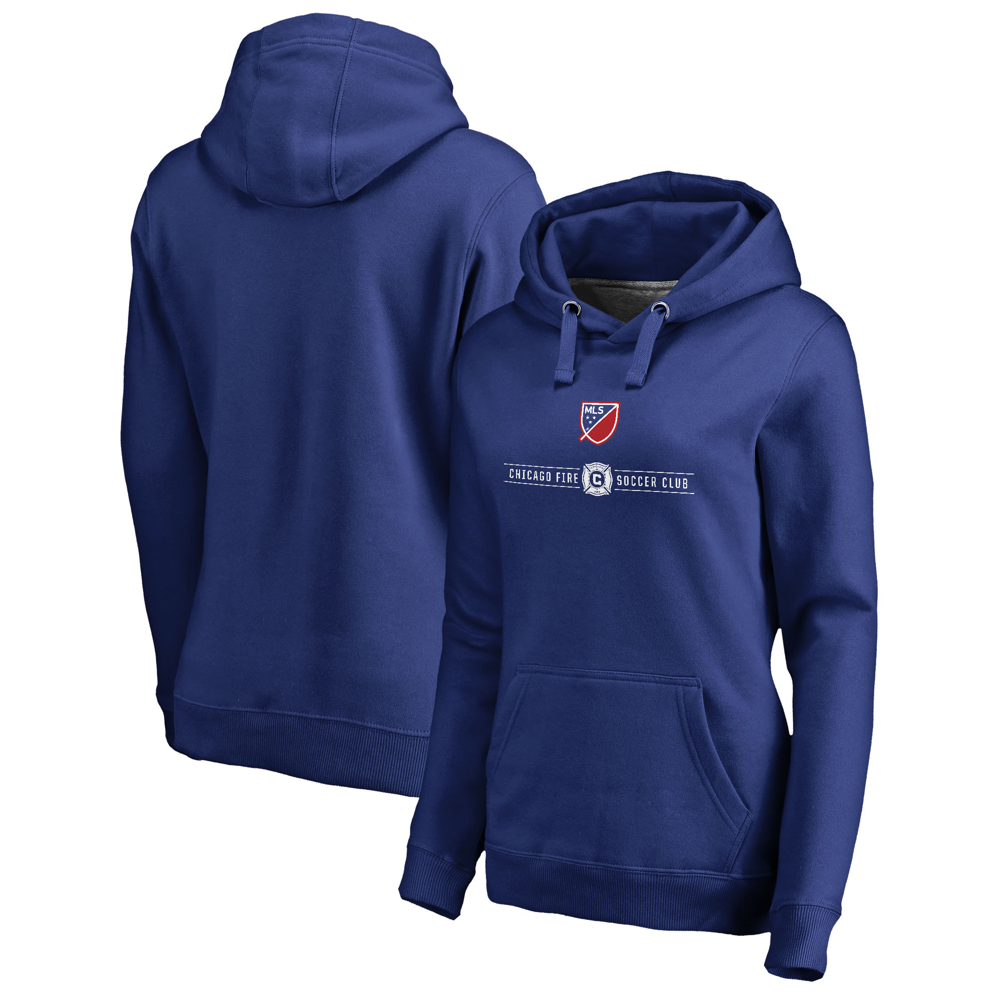 Chicago Fire Fanatics Branded Women's Shielded Pullover Hoodie - Royal