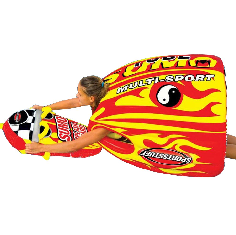 SPORTSSTUFF 53-1807 Sumo & Splash Guard Combo Single Rider Towable + 50 60' Rope by Kwik Tek