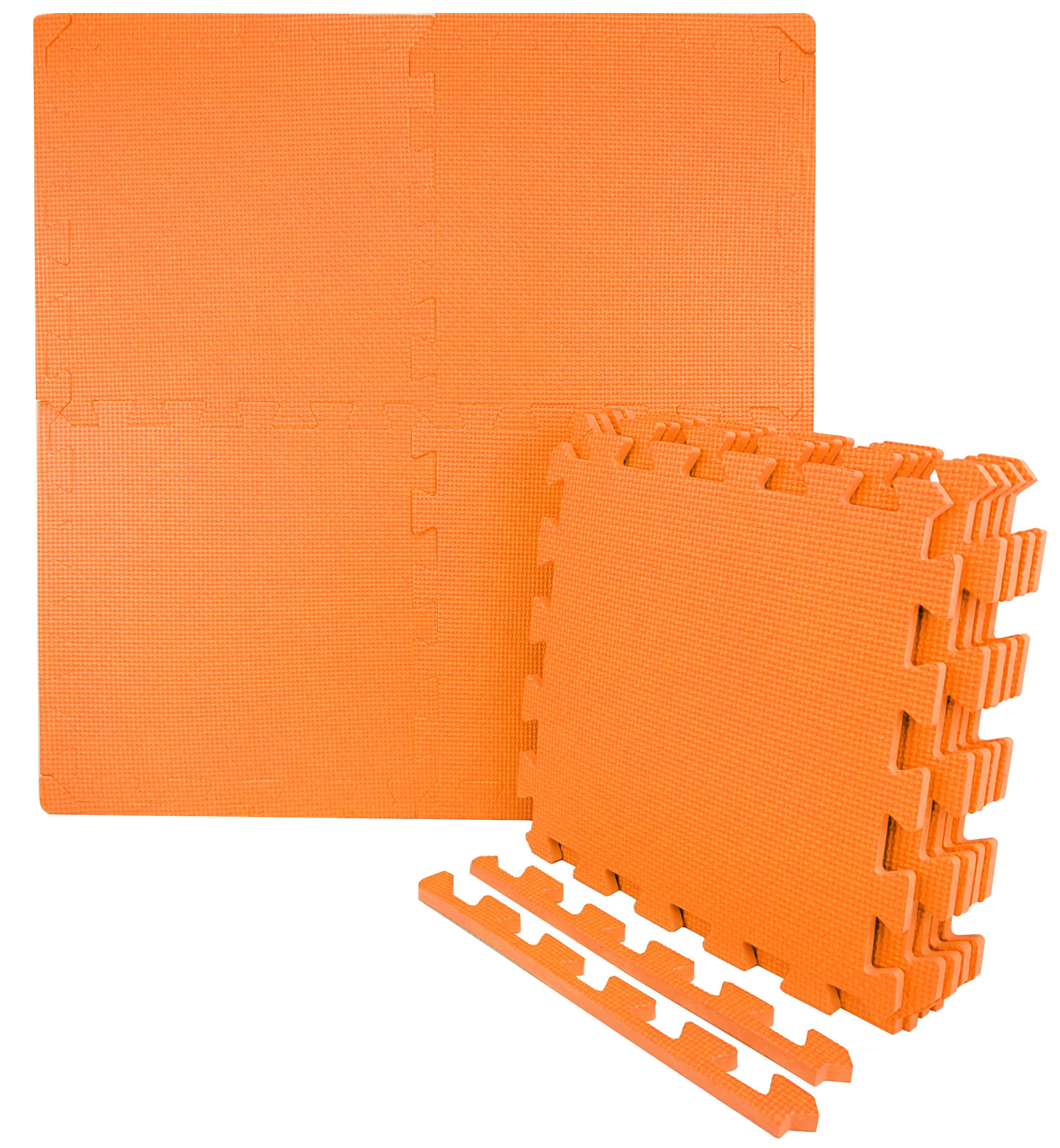 Wacces 12 x 12 inch Multi-Purpose Puzzle EVA Floor Interlocking Foam Exercise Mat Tiles - Multi-Color