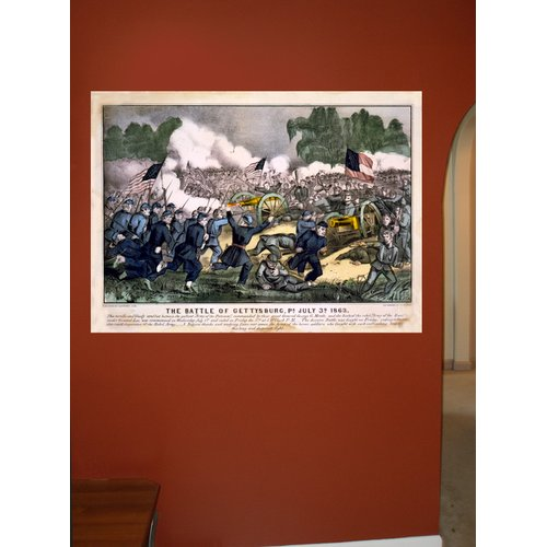 Charlton Home 'Battle of Gettysburg' Graphic Art Print on Poster