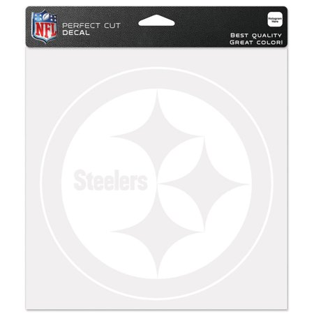 "Pittsburgh Steelers WinCraft 8"" x 8"" White Logo Decal - No Size"