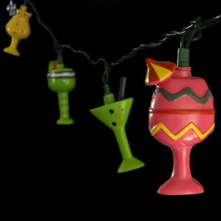 Novelty Lighting Mart : Novelty String Lights String Lights 10 Cocktail Glasses Outdoor 11 ft. Plug-In - Walmart.com