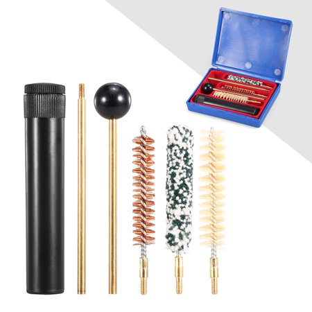 6 PCS Barrel Cleaning Kit .357/.38cal 9MM Brush Kit Gear Cleaning Tool Set with Storage