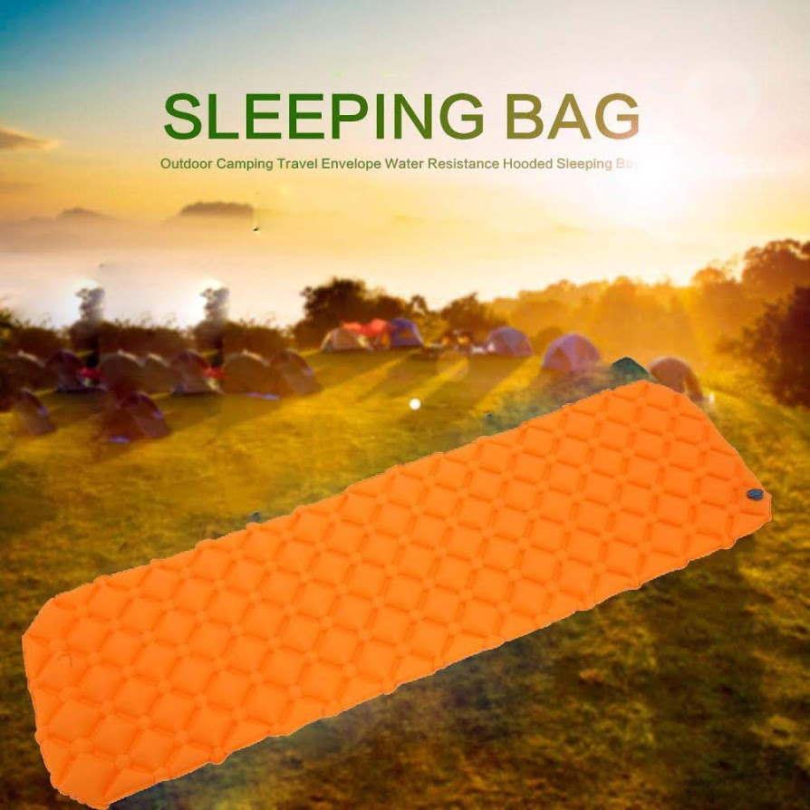 Orange Inflatable Lightweight Sleeping Pad Air Camping Mat Inflatable Camping Pad