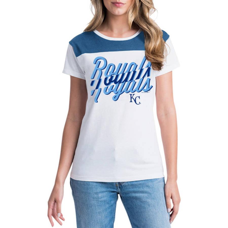 MLB Kansas City Royals Women's Short Sleeve White Graphic Tee