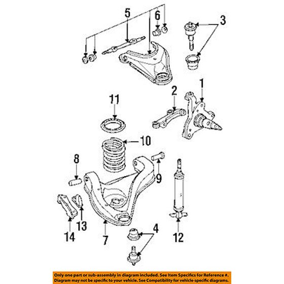 Dodge CHRYSLER OEM 93-96 Dakota Front Suspension-Bumper 52057998 ...
