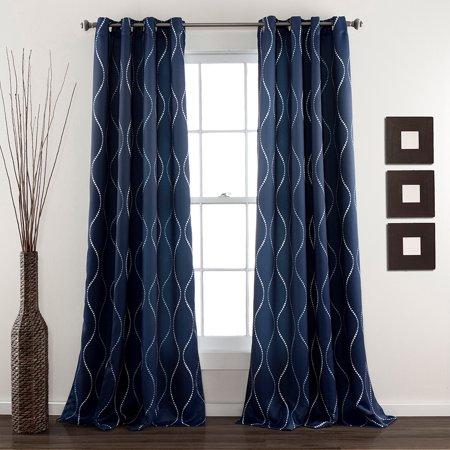 Swirl Window Curtains Set