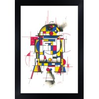 Droid by HEK Star Wars Movie R2-D2 R2D2 Character Mondrian Framed Fine Art Print