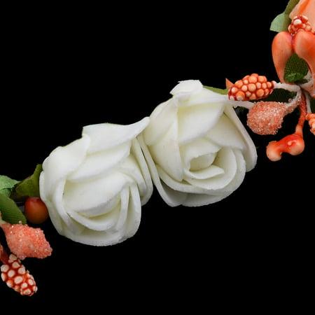 Fête mariage Tricot Mousse Rose Fleur artificielle Décoration Garland - image 2 de 3