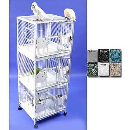 Image of A and E Medium Triple Stack Bird Cage Black