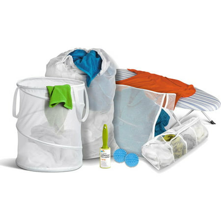 Honey Can Do Deluxe Laundry Kit for Dummies (7-Piece Set) Compact Laundry Stacking Kit