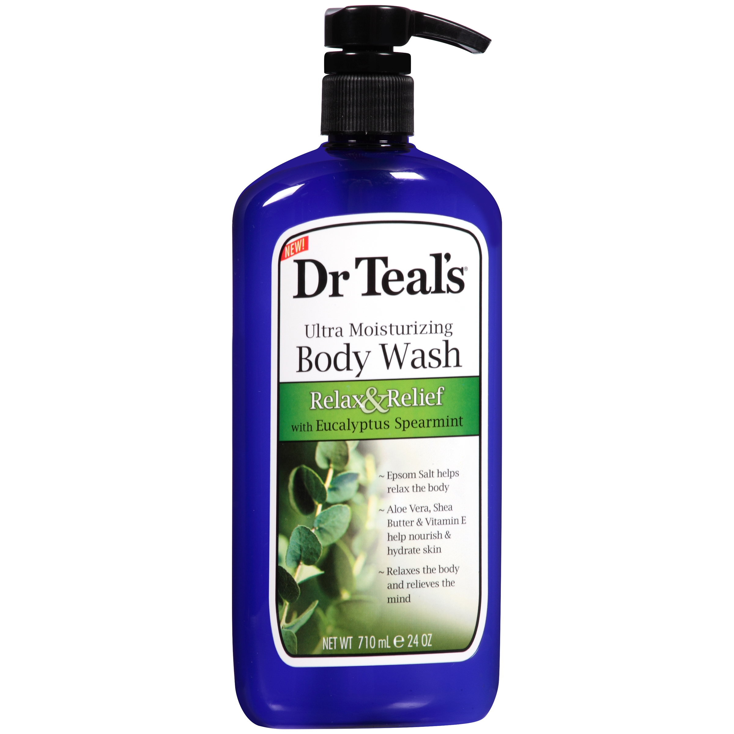 Dr Teal's Ultra Moisturizing Relax & Relief Body Wash with Eucalyptus Spearmint, 24 oz.
