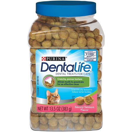 Purina DentaLife Savory Salmon Dental Cat Treats 13.5 Oz.