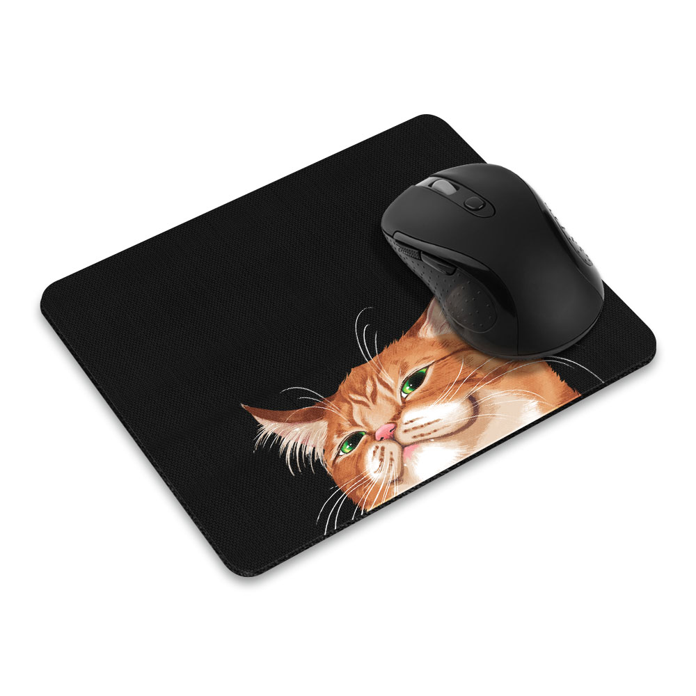 FINCIBO Rectangle Standard Mouse Pad, Cross Eyed Tortoisehell Cat